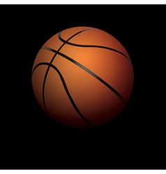 Basketball on Black Background vector image