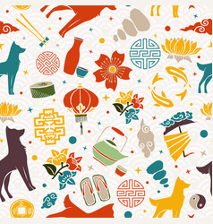 chinese new year of the dog 2018 icon background vector image vector image
