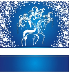 Christmas card with deers vector image