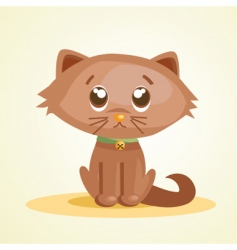 cute pussy vector image vector image