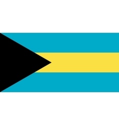 Flag of Bahamas in correct proportions and colors vector image vector image