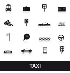taxi icons eps10 vector image vector image