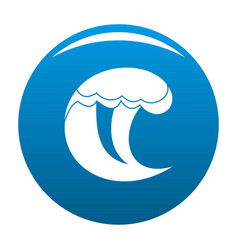 Wave water scene icon blue vector