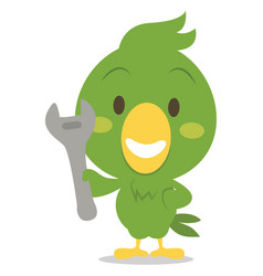 character parrot with tool vector image vector image