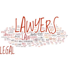 Lawyers text background word cloud concept vector