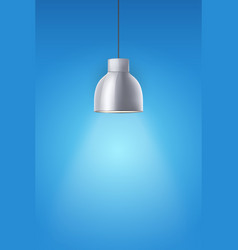 retro chrome stylish ceiling cone lamp vector image