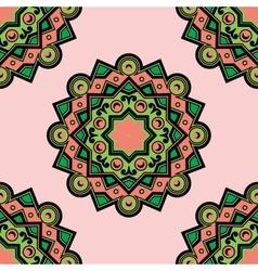 Beautiful Deco Colored Mandala PSeamless vector image vector image