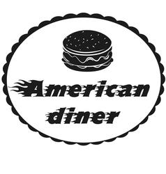 burger symbol hamburger icon design background vector image vector image