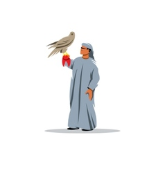 Falconry sign vector image