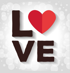 happy valentines day calligraphic love lettering vector image
