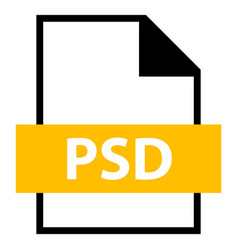 file name extension psd type vector image