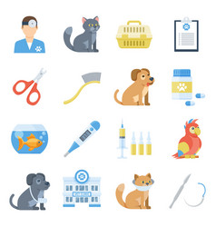 veterinary medicine cartoon set vector image