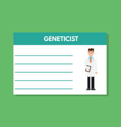 about doctor geneticist template medical vector image