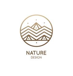 Abstract logo mountain landscape vector