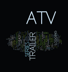 Atv trailer text background word cloud concept vector