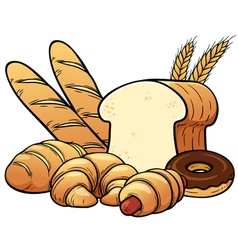 Breads set vector image