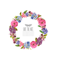 bright floral wreath vector image