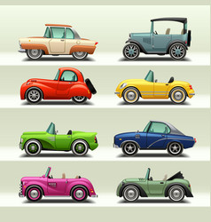 car icon set-7 vector image