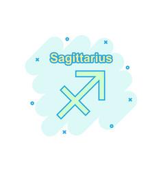 cartoon sagittarius zodiac icon in comic style vector image