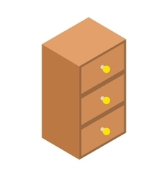 Chest of drawers isometric 3d icon vector image