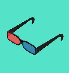 Cinema glasses isometric view vector