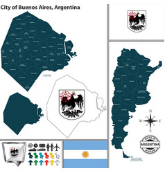 city of buenos aires argentina vector image