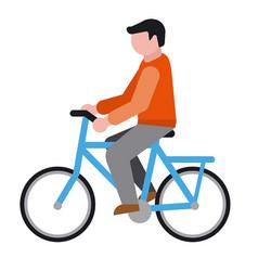 cyclist icon vector image