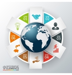 Earth for infographic vector