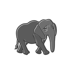 Elephant icon in flat style vector image