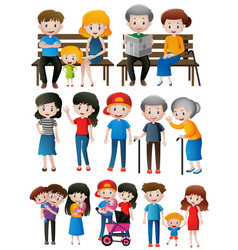 family members of different generations vector image