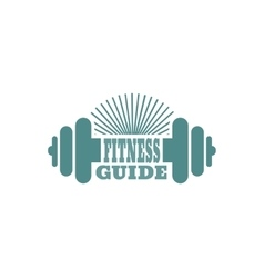 Fitness guide text Gym and Fitness relative image vector image
