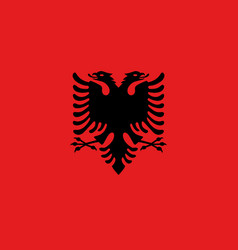 Flag of albania official colors and proportions vector