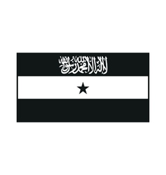 Flag of Somaliland monochrome on white background vector image