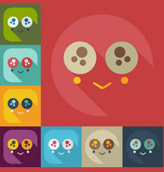 Flat modern design with shadow icons confused vector