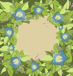 flora frame2 01 vector image