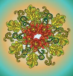 Floral spiral design vector image vector image