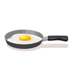 fried eggs breakfast fried eggs in a pan vector image