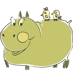 Friendly hippo vector
