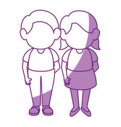 girl and boy vector image