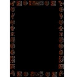 golden mexican border on black vector image