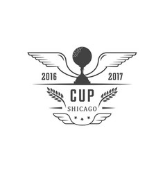 golf cup logotype vector image