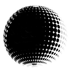 Halftone circle halftone orb abstract circular vector