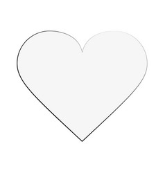 heart game item vector image
