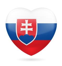 Heart icon of Slovakia vector