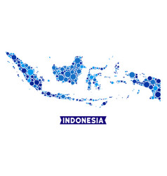 Indonesia map links collage vector