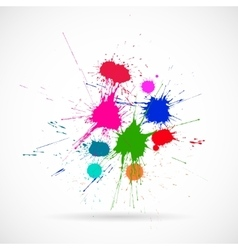 Ink Color Blots on the white background vector image