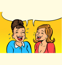 joyful girlfriends women laugh vector image