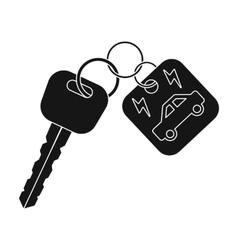 Key from eco car icon in black style isolated on vector