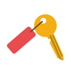 Key with tag icon image vector