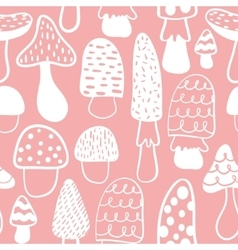Kids and baby modern mushroom seamless pattern vector